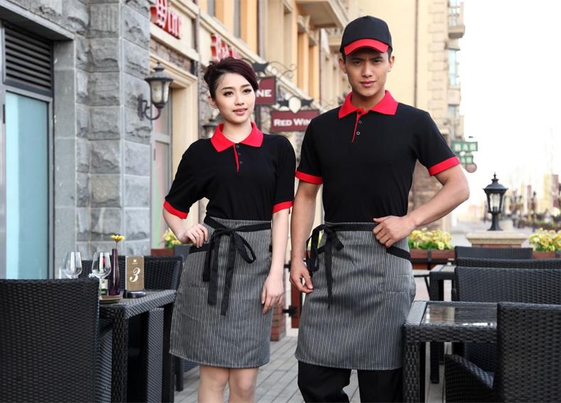 may đồng phục áo phông nhà hàng khách sạn