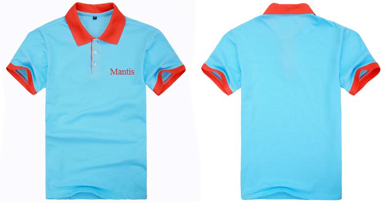 mẫu áo phông nhà hàng mầu xanh nghọc phối cam