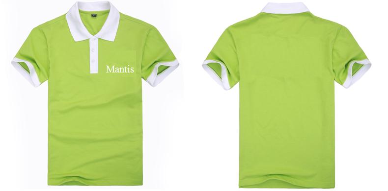 đồng phục áo phông nhà hàng mầu xanh chuối phối trắng