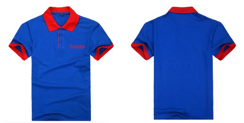Đồng phục áo phông nhà hàng mầu xanh biển phối đỏ