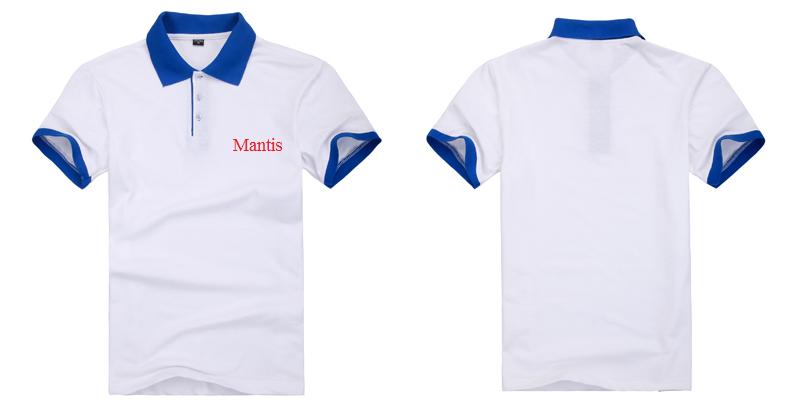 Đồng phục áo phông nhà hàng mầu trắng phối xanh biển