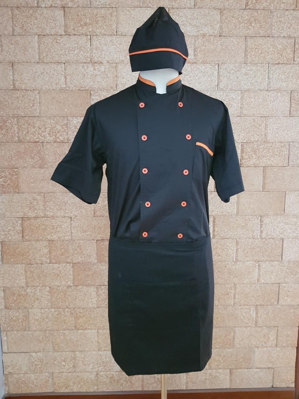 mẫu áo bếp đen đẹp