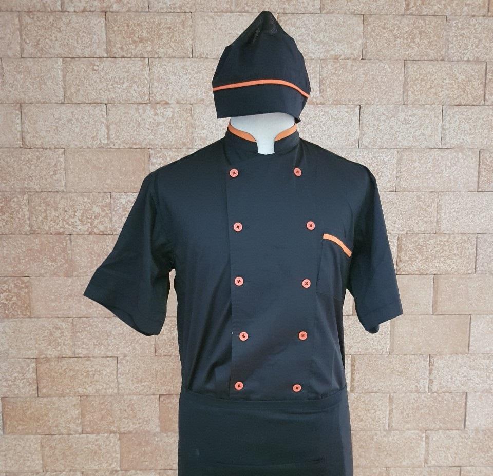 áo bếp đen đẹp