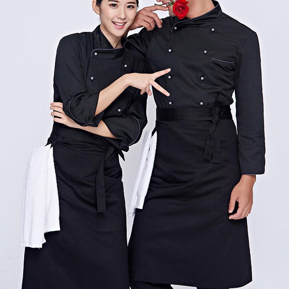 Áo bếp màu đen đẹp