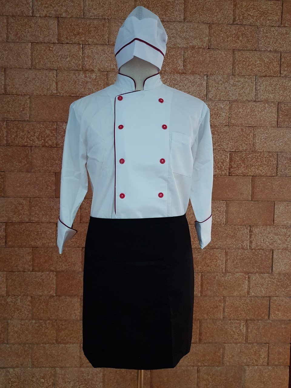 áo bếp may sẵn chỉ với giá 165 nghìn đồng