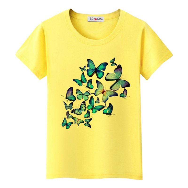 Mẫu áo đồng phục lớp in hình bướm màu vàng