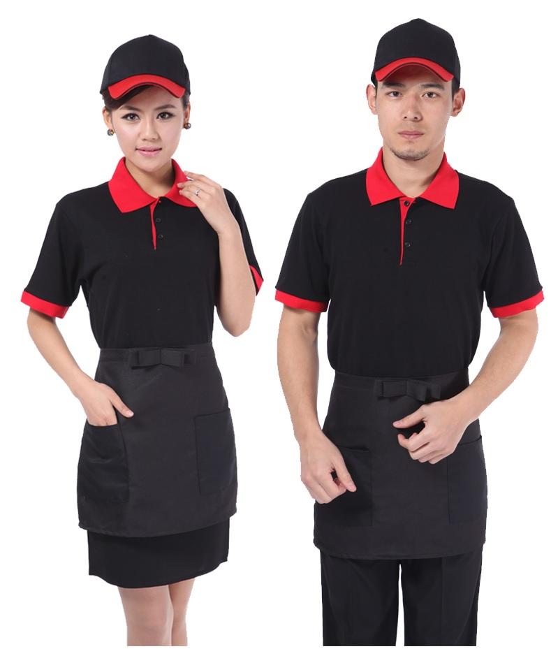 Áo phông nhân viên cafe màu đen đẹp