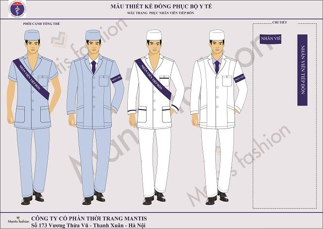 Đồng phục nhân viên lễ tân nam.