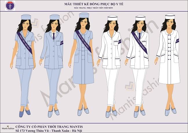 Đồng phục nhân viên lễ tân nữ.