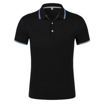 Hình ảnh sản phẩm áo phông đen viền cổ và tay