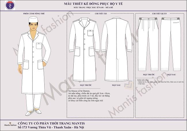 đồng phục bác sỹ nam dài tay