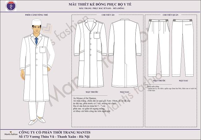 đồng phục bác sỹ nam mùa đông