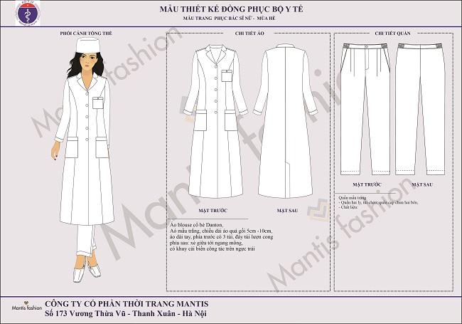 đồng phục bác sỹ nữ dài tay