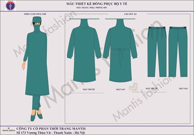 đồng phục phòng mổ áo choàng nữ
