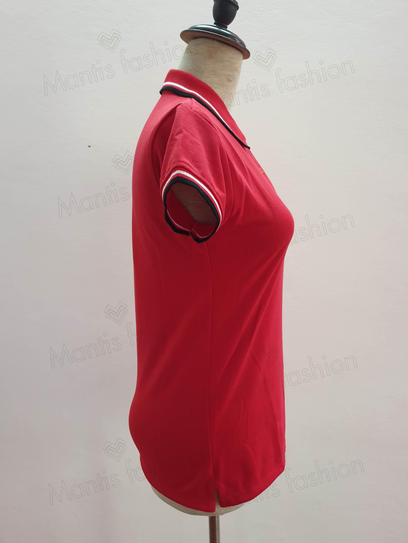 áo thun đồng phục có cổ mầu đỏ đẹp