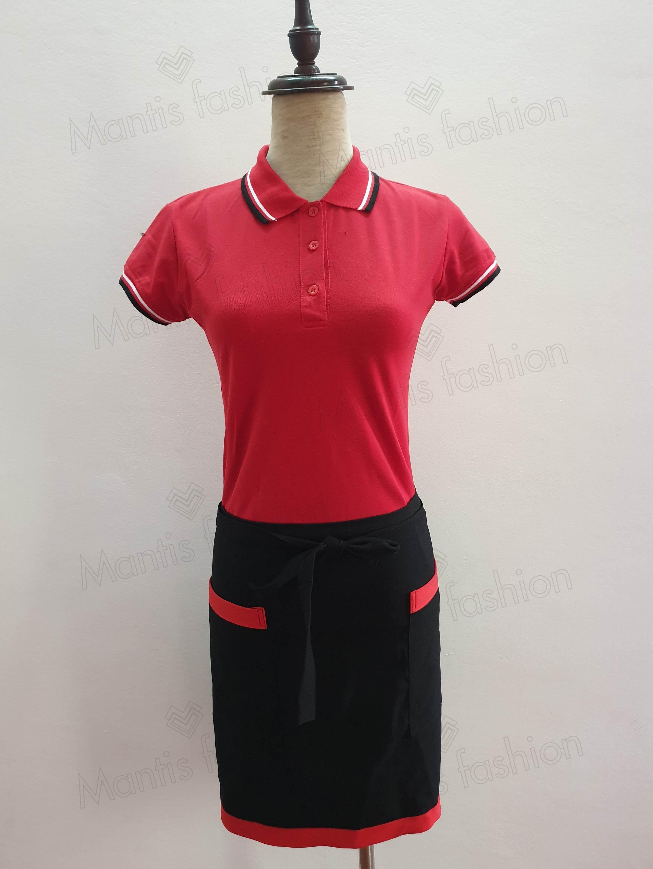 áo thun đồng phục mầu đỏ