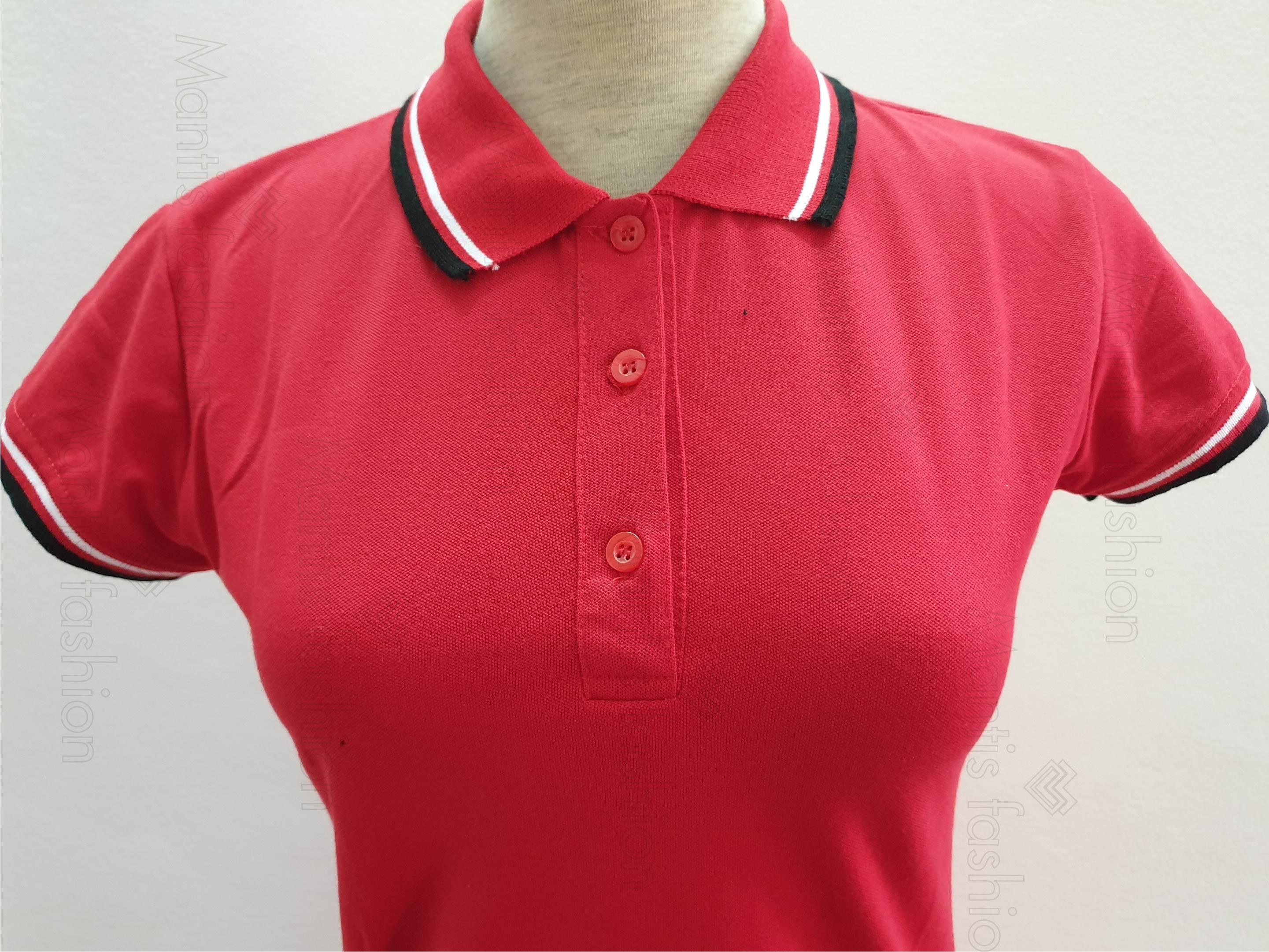 bán áo thun đồng phục mầu đỏ