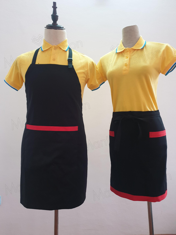 sỉ áo thun, tạp dề nam nữ làm đồng phục quán cà phên, nhà hàng