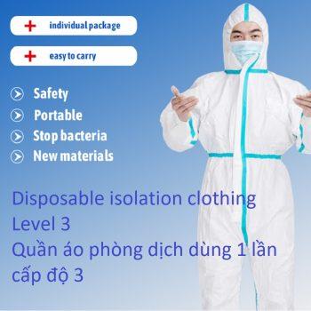 quần áo phòng dịch dùng 1 lần cấp độ 3